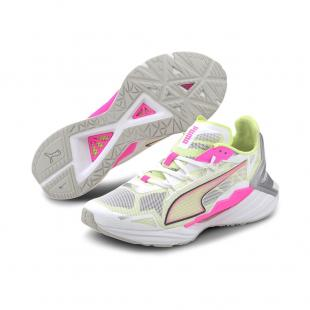 SAPATILHA PUMA ULTRARIDE WNS (white/pink/yellow)
