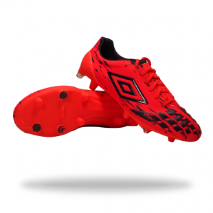 CHUTEIRAS UMBRO UX ACCURO PRO HG - Fiery Coral/Winter Bloom