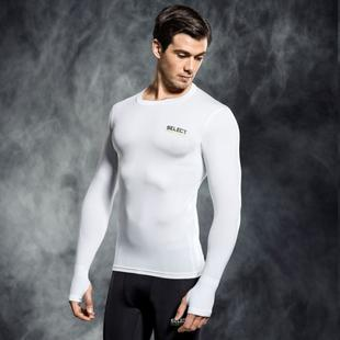 SELECT 6902 COMPRESSION SHIRT WITH LONG SLEEV WHITE