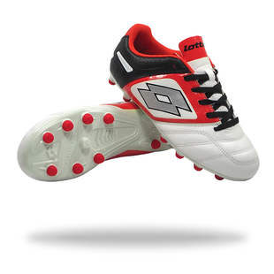 LOTTO STADIO POTENZA V 700 FG jnr (white/red)