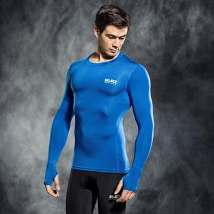 SELECT 6902 COMPRESSION SHIRT WITH LONG SLEEV BLUE